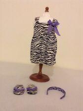 Adorable EUC American Girl Doll Retired Safari Dress Headband Flip Flops