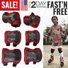 Knee Elbow Protective Pads Guards Set for Kids Youth Inline Roller Cycling Bike