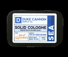 Duke Cannon Sea Solid Cologne Tin Container 1.5 oz Made USA Naval Supremacy