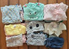 Lot Of 29 toddler Girls Clothes tops/pants/Dress 6-12 Months Carters Burt's bee