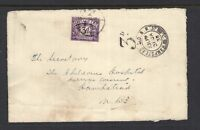 Great Britain 1938 letter front with 3d Stamp Duty applied