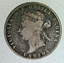 CANADA: Queen Victoria 1872 H Silver 25 Cents.