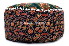Indian Foot Stool Pouffe Cover 100%Cotton Floor Mandala Ottoman Pouf 24x24""