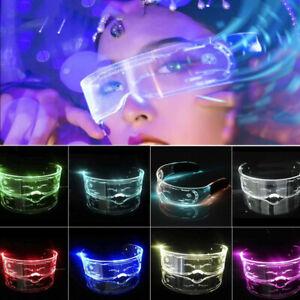 Cyberpunk Sonnenbrille mit Beleuchtung perfekt Cosplay Festivals Cybergoth LED