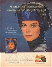 1962  Vintage ad for Cover Girl Make-up Pretty Model Feathers Black   (051617)