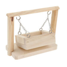 Blesiya Hamster Toys Wood Swing Basket Small Pet Platform Cage Accessories