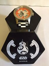 Nixon Corporal SS SW bb8 Star Wars Watch Silver/Orange Limited Edition Watch NEW
