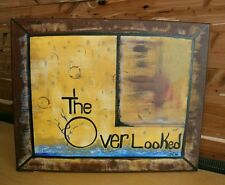 Enjoy The Overlooked - Original Outsider Folk Art Painting Signed 16x20 Canvas