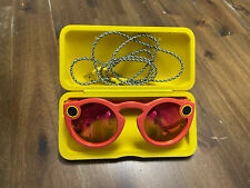 Snapchat Spectacles GlassesCoral Frame, Yellow Case And Cord