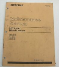 Cat Caterpillar 920 930 Wheel Loader Tractor Maintenance Manual Book Catalog Oem