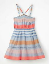 New Mini Boden strappy smocked Midi Dress 8-9 years