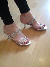 Next Ladies Slingbacks Sandals Size 6.5/40 Colour Silver