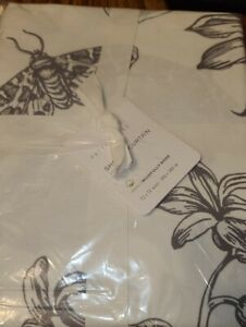 Pottery Barn Pippa Floral Shower Curtain 72x72 New - Gray Grey