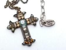 Vintage 'Ayala Bar' Cross Pendant and Necklace.