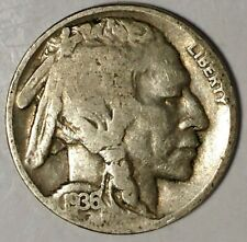 """1936-P 5C Buffalo Nickel 18cl0501-3a  """"Only 50 Cents for Shipping"""""""