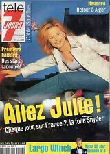 tele 7 jours n°2106 julie snyder  navarro  sharon stone