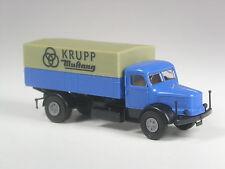selten: Brekina Krupp Mustang Pritsche blau in OVP