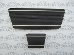 1965-1974 Buick Brake Pedal Cover Set with Stainless Steel Strips. Free Shipped