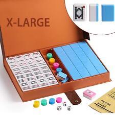 高級壓克力麻將 Chinese Numbered X-Large Blue Tiles Mahjong set / Board Game US Seller