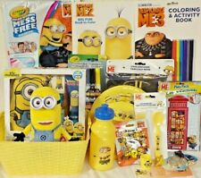 New DESPICABLE ME Minions EASTER Toy Gift Basket FIGURE toys play set birthday