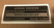 John Deere Serial Number Decal On Chrome Custom To Your Tractor Includes 2