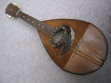 "Old Italian mandolin w. inlays! ""Grasso Toscano Santi Catania"" needs repair"