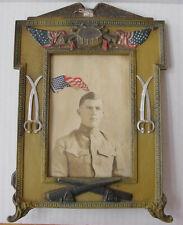 Antique WWI Patriotic Table Top Frame