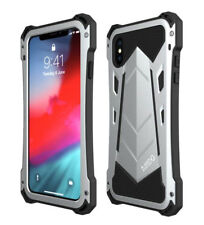 R-JUST For iPhone XS MAX / XS Shockproof Aluminum Metal Armor Bumper Case Cover