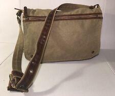 Grand Stone Shoulder Bag/school Bag Thick Nice Durable Beige Canvas