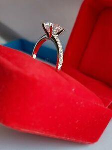2 Ct Classic Round Cut Diamond Engagement Ring 14k White Gold Enhanced