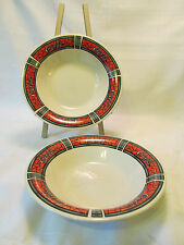 Gibson Designs TRADITIONS Coca Cola Stained Glass 2 Coupe Soup Bowls