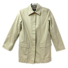 Authentic Burberry Checkered Jacket Trench Coat Beige Cotton