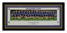 MELBOURNE STORM NRL PREMIERS 2017 PANORAMIC GRAND FINAL TEAM LINE UP FRAMED