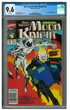 Marc Spector Moon Knight 25 1991 Key Ghost Rider Meeting Newsstand CGC 9.6 JZ010