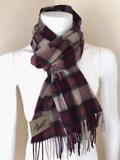BARBOUR SCARF GOWAN CHECK 95% LAMBSWOOL 5% CASHMERE BNWT