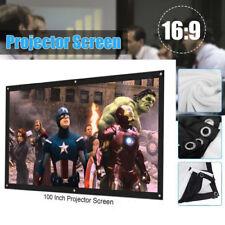 """Nuovo 100"""" Schermo di Proiezione 16:9 3D 1080P Proiettore Home Theater 1080P IT"""