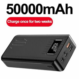 Portable External Battery 50000mAh Type C Micro USB Fast Charging  Power Bank