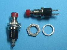 12 pcs Push OFF Red Cap SPST Mini Push Botton Momentary Switch 120V/6A 250V/3A