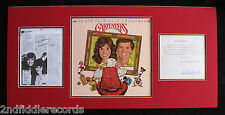 THE CARPENTERS-Rare Signed Contract Album Display by RICHARD & KAREN CARPENTER