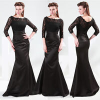 2015 Mermaid Formal Cocktail Evening Wedding Prom Long Gown Dress Plus Size 6-20