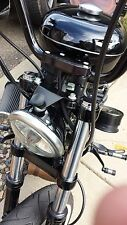 JBSporty Sportster Custom Headlight Bracket Harley Davidson WORKS w STOCK LIGHT