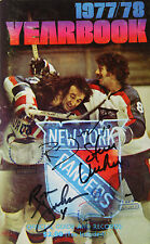 (#247)New York Ranger 1977/78 Yearbook Signed by Duguay,Vickers, Greschner