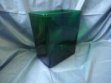 Big Green Glass Rectangle Vase; Napco 1166  #703