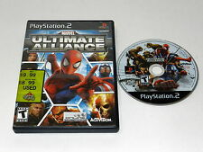 Marvel Ultimate Alliance Sony Playstation 2 PS2 Game Disc w/ Case