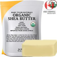 🇨🇦 Organic Shea Butter 1 lb 453 g Raw Unrefined Ivory Grade A Premium Quali...