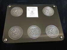 Perth Mint Antique 5 X 2oz (10oz Total)Silver Rare Australian Landmark Medallion