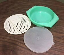 Vintage Tupperware Shredder Grater Bowl Yellow 786 787 & 230 Lid 3pcs.