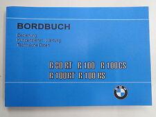BMW R80RT R100 R100RT R100CS R100RS Bordbuch Handbuch Betriebsanleitung