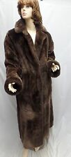 AMAZING Brown Reversible Sheared Beaver Coat SIZE L 12 14