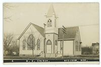 RPPC Methodist Church MADISON NE Vintage Nebraska Real Photo Postcard